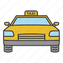 auto, automobile, cab, car, taxi, transport, vehicle icon