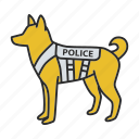 animal, cop, dog, k9, military, pet, police icon
