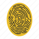 digital, finger, fingerprint, fingerprinting, human, identification, scan icon