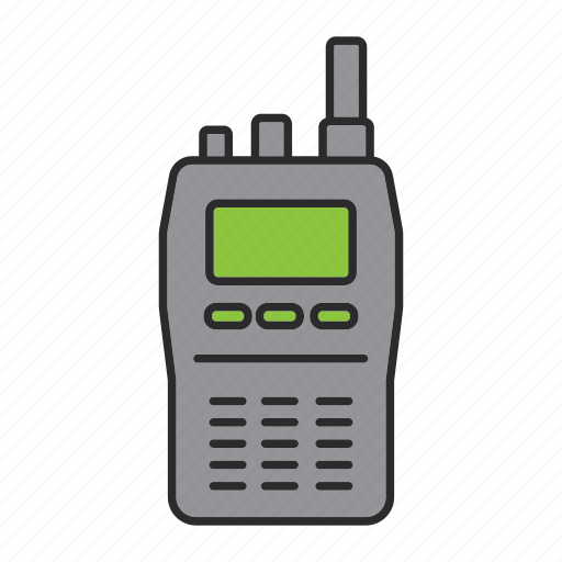 cop, officer, police, policeman, radio, walkie talkie icon