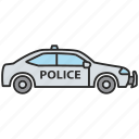 automobile, car, cop, officer, police, policeman, vehicle icon