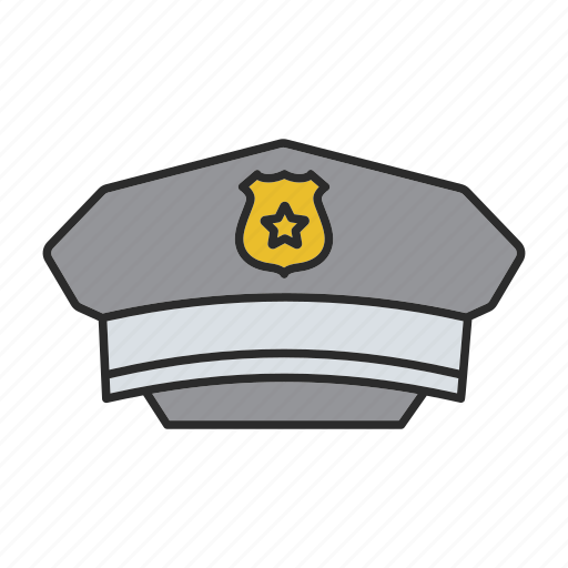 cap, cop, hat, headwear, officer, police, policeman icon
