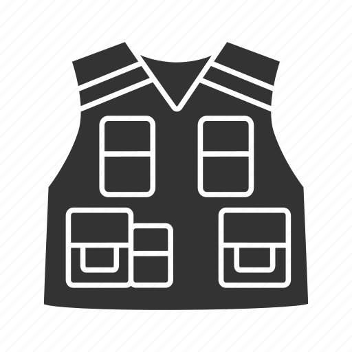 clothing, military, police, policeman, protective, tactical, vest icon