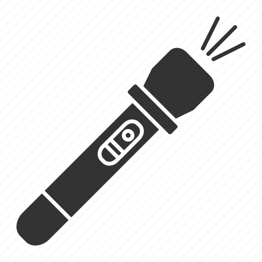 battery, flashlight, handy, light, pocket, portable, tactical icon