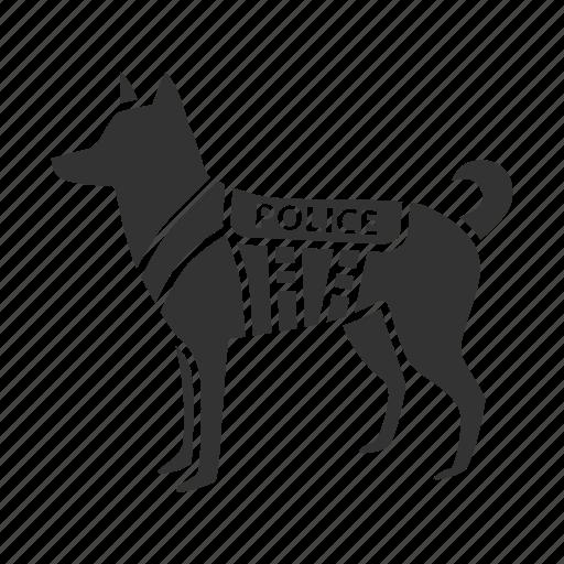 animal, cop, dog, k9, military, pet, police icon
