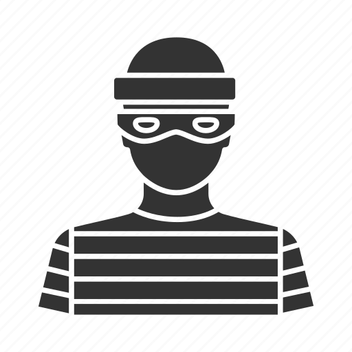 bandit, burglar, criminal, housebreaker, mugger, robber, thief icon