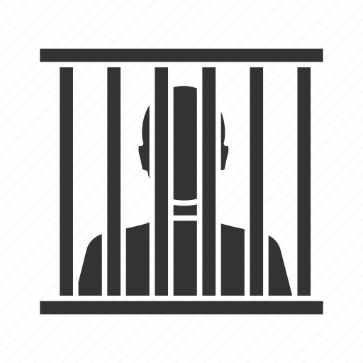 arrest, cage, criminal, jail, jailhouse, prison, prisoner icon