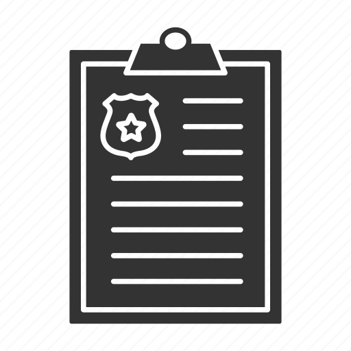 clipboard, investigation, officer, police, policeman, protocol, report icon