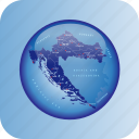 croatia, croatia regional borders, europe, map, maps icon