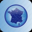 borders, france, regional icon