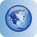 europe, greece, greece regional borders, map, maps icon