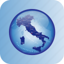 europe, italy, italy regional borders, map, maps icon