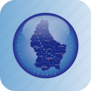 europe, luxembourg, luxembourg regional borders, luxemburg, map, maps icon