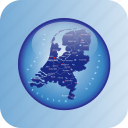 europe, map, maps, netherland, netherlands regional borders icon