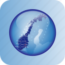 europe, map, maps, norway, norway regional borders icon