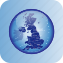 europe, european, map, maps, united kingdom, united kingdom regional borders icon