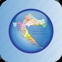 croatia, croatia regions, europe, european, map, maps icon