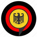aim, bundestag, eagle, pointer, politics, target icon