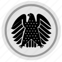 bundestag, eagle, germany, round, sign