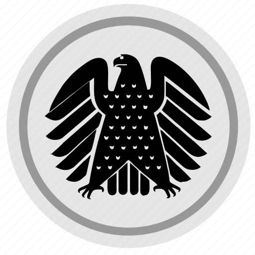 bundestag, eagle, germany, round, sign icon