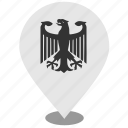 bundestag, germany, location, map, pointer icon