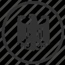 bundestag, eagle, germany, organization, round