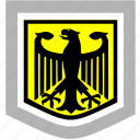 bundestag, eagle, germany, shield icon