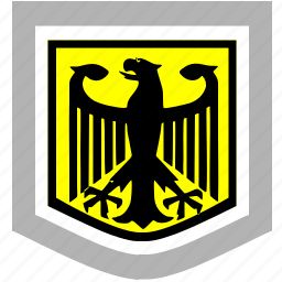 bundestag, eagle, germany, shield icon