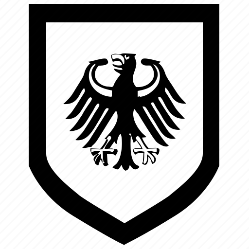 bundestag, force, germany, shield icon