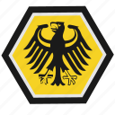 bundestag, germany, poligon, shield, sign icon