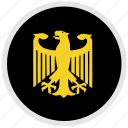 bundestag, eagle, germany, round icon