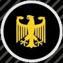 bundestag, eagle, germany, round