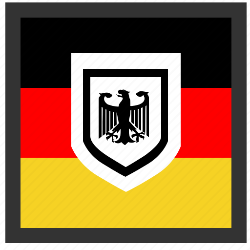 bundestag, eagle, germany, square icon