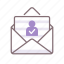 absentee, envelope, letter, voting icon