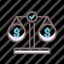 balanced, budget, scale icon