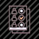 ballot, choice, paper, vote icon