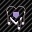 bleeding, heart, love, romance icon