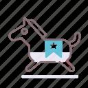 animal, dark, horse, toy icon