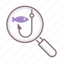expedition, fishing, hook icon