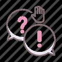 burner, communication, dialog, front icon