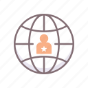 globe, incumbent, world icon