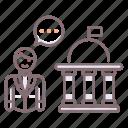 building, lobby, white house icon