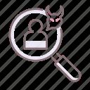 bad, glass, muckraker icon