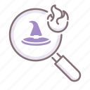 hat, hunt, witch icon