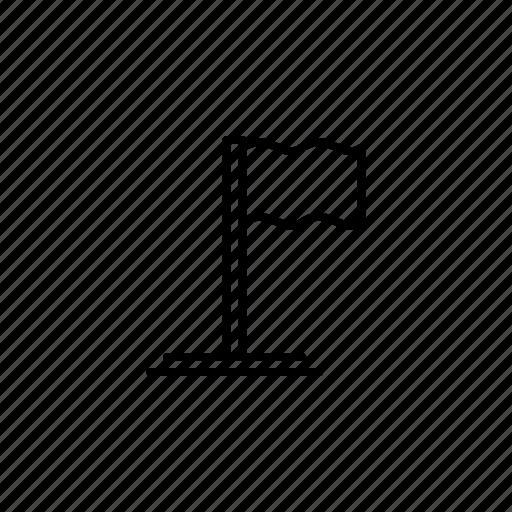 flag, line, outline, politic, politics icon