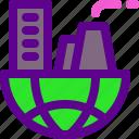 city, ecology, green icon