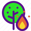 ecology, fire, forest, green icon