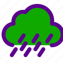 ecology, green, polluted, rain icon