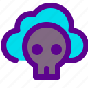 ecology, green, skull icon
