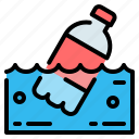 bottle, ecology, plastic, pollution, waste, water icon